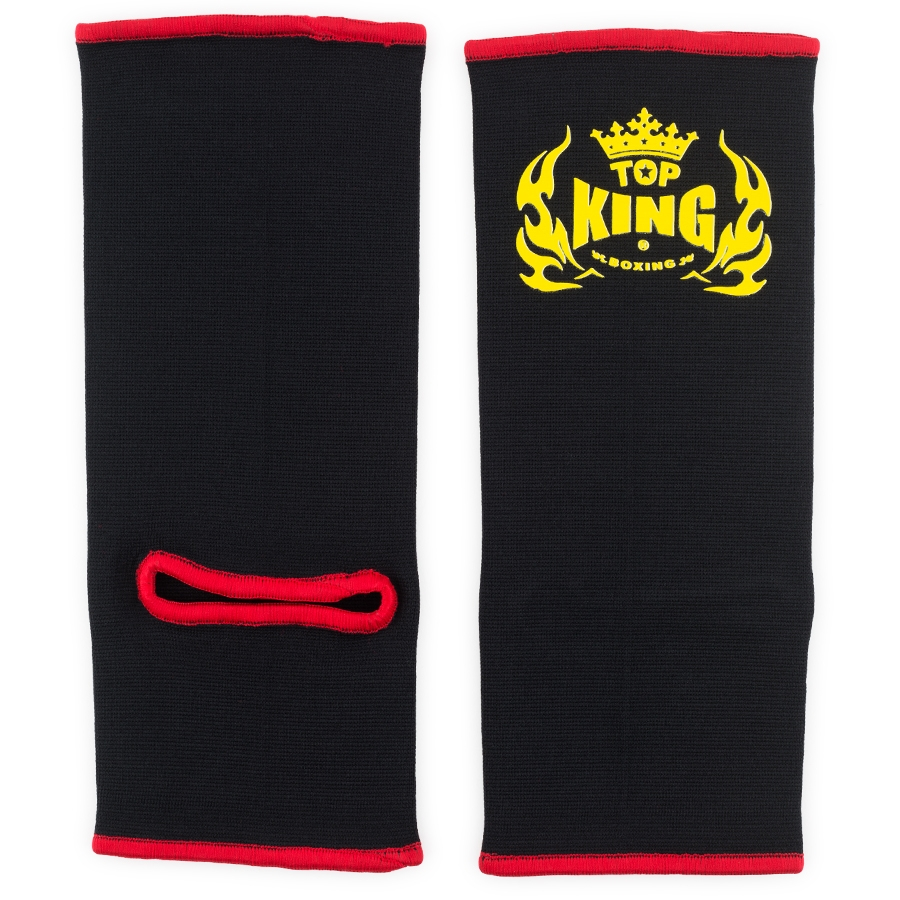 top king ankle supports black red