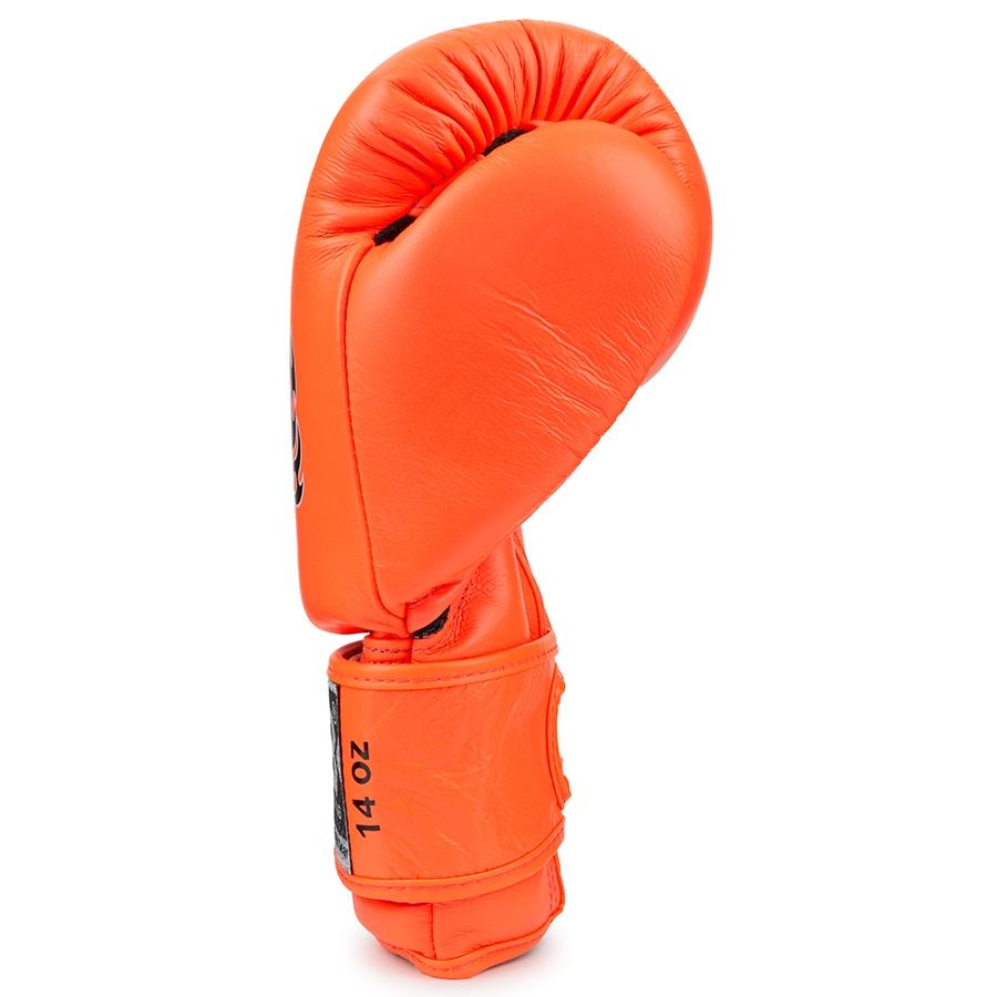 Top King Boxing Gloves Double Lock Orange