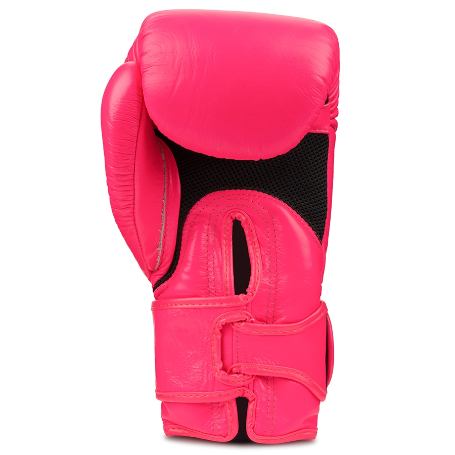 Top King Boxing Gloves Double Lock Pink