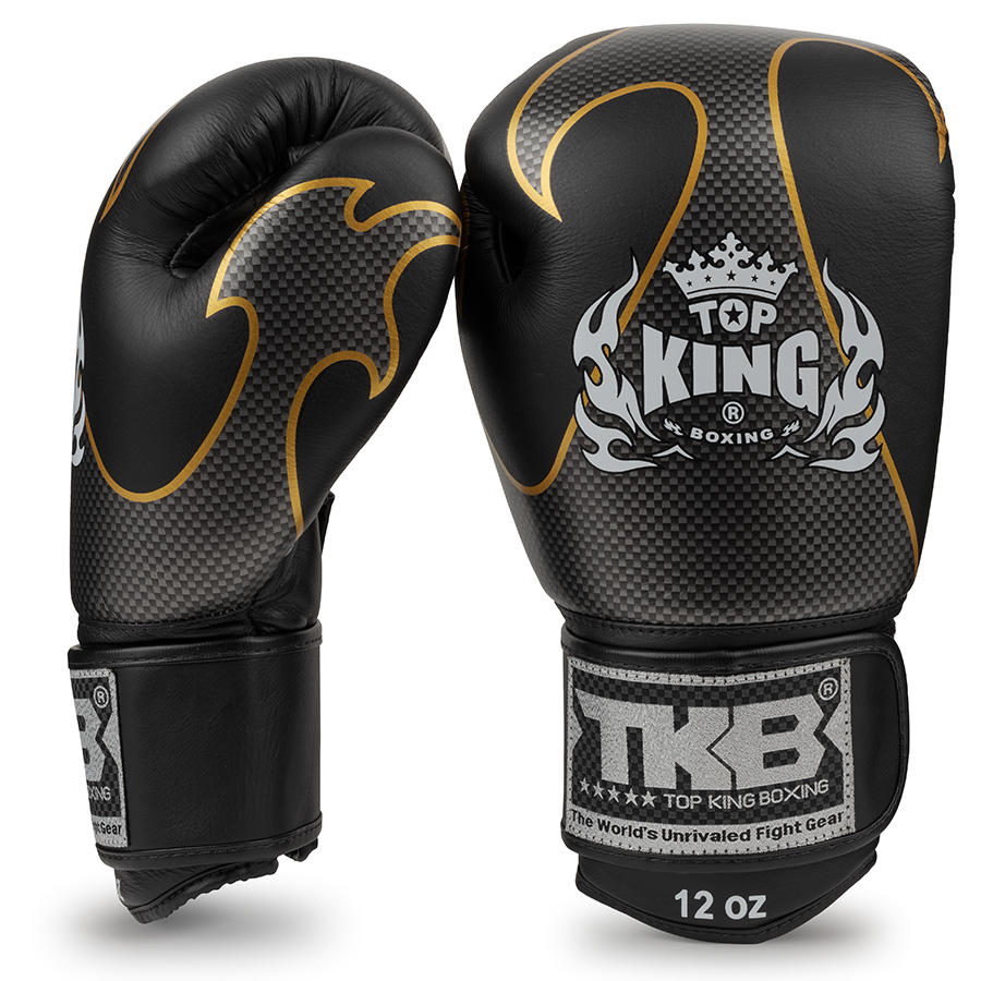 top king empower boxing gloves black silver