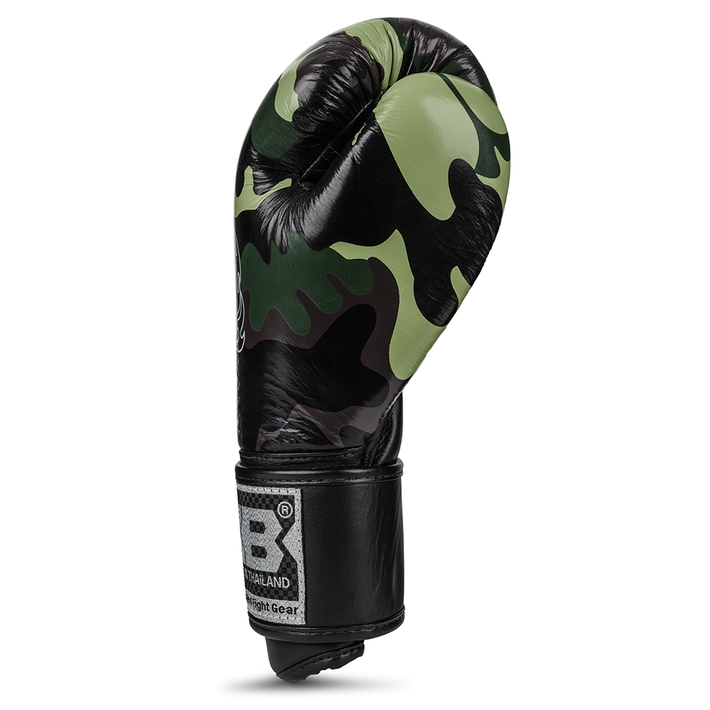 top king empower boxing gloves camo green