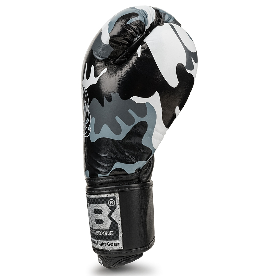 top king empower boxing gloves camo grey
