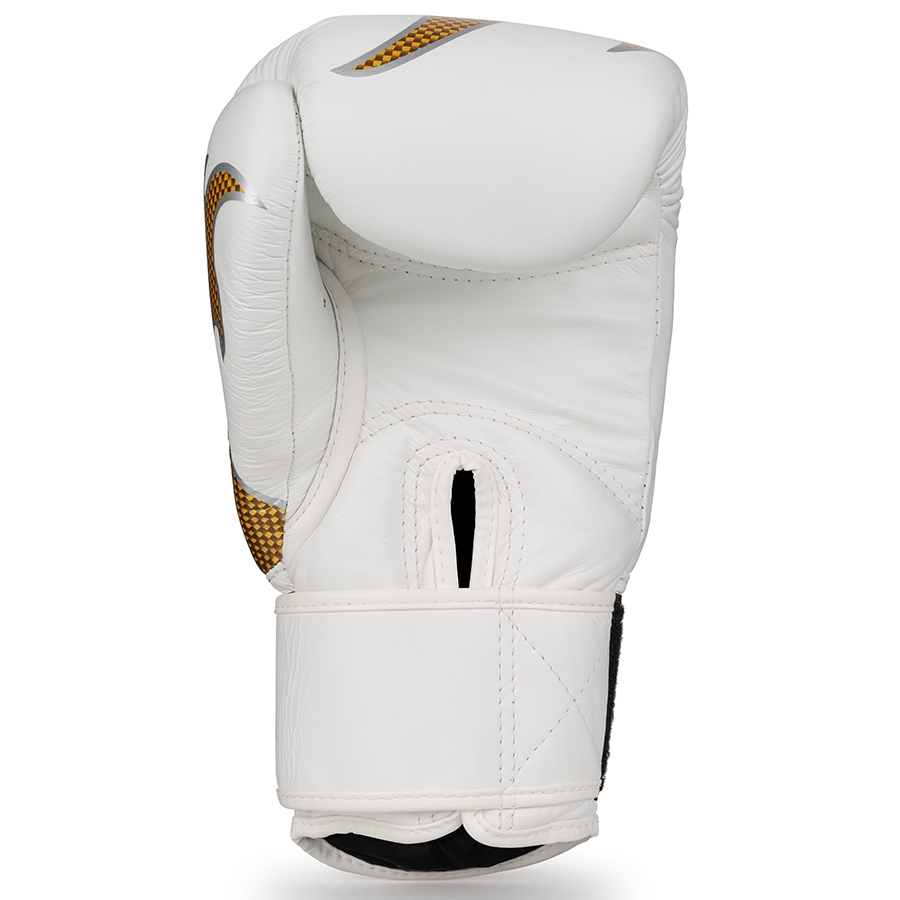 top king empower boxing gloves white gold