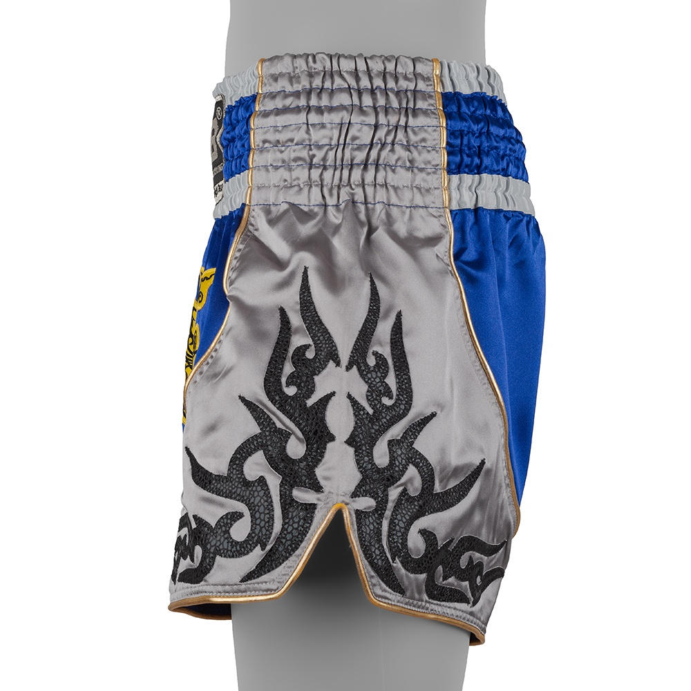 top king muay thai shorts traditional royal blue