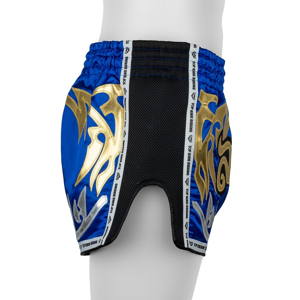 top king muay thai shorts retro blue