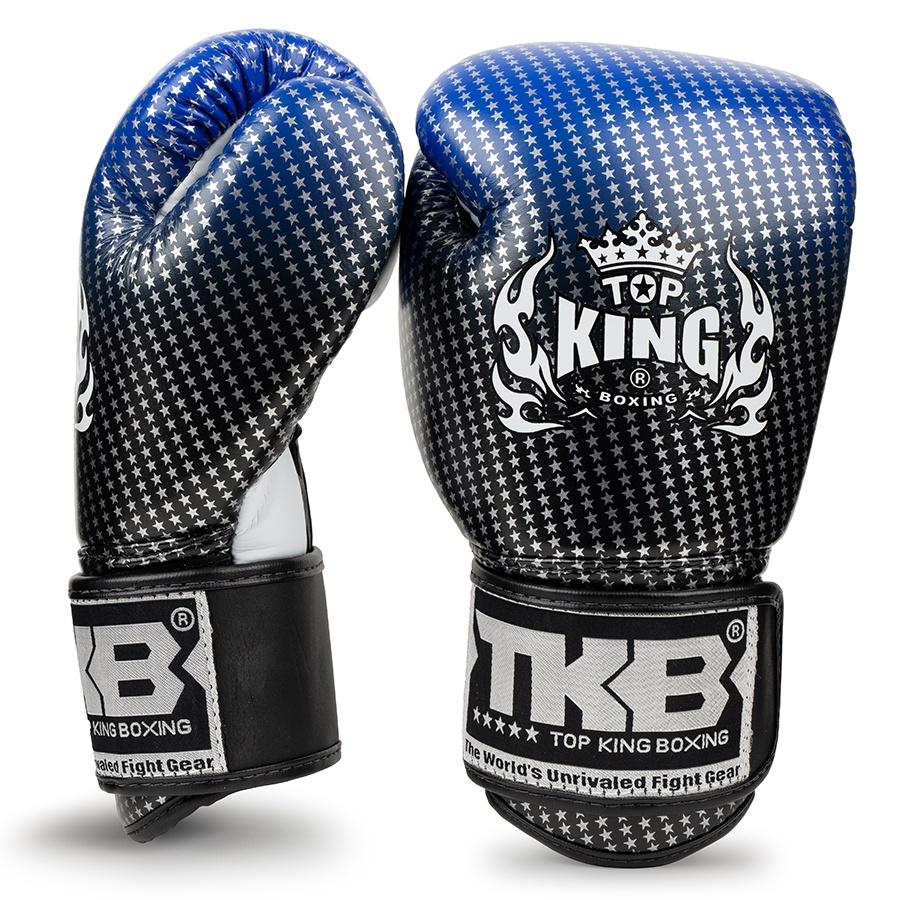 top king kids boxing gloves super star blue black