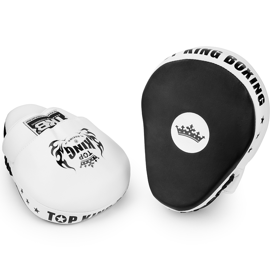 top king focus mitts super white black