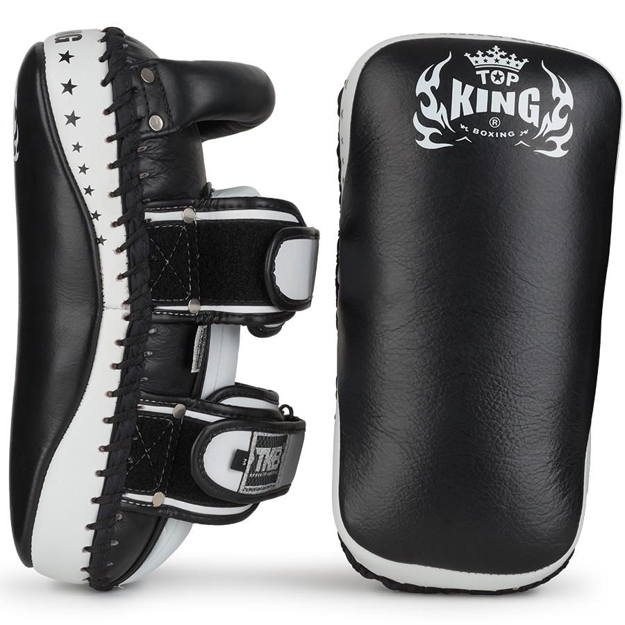 top king thai kick pads super curved black white