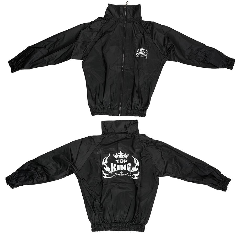 Top King Black Vinyl Sauna Suit