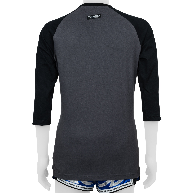 Top King Long Sleeved Tshirt Grey Black