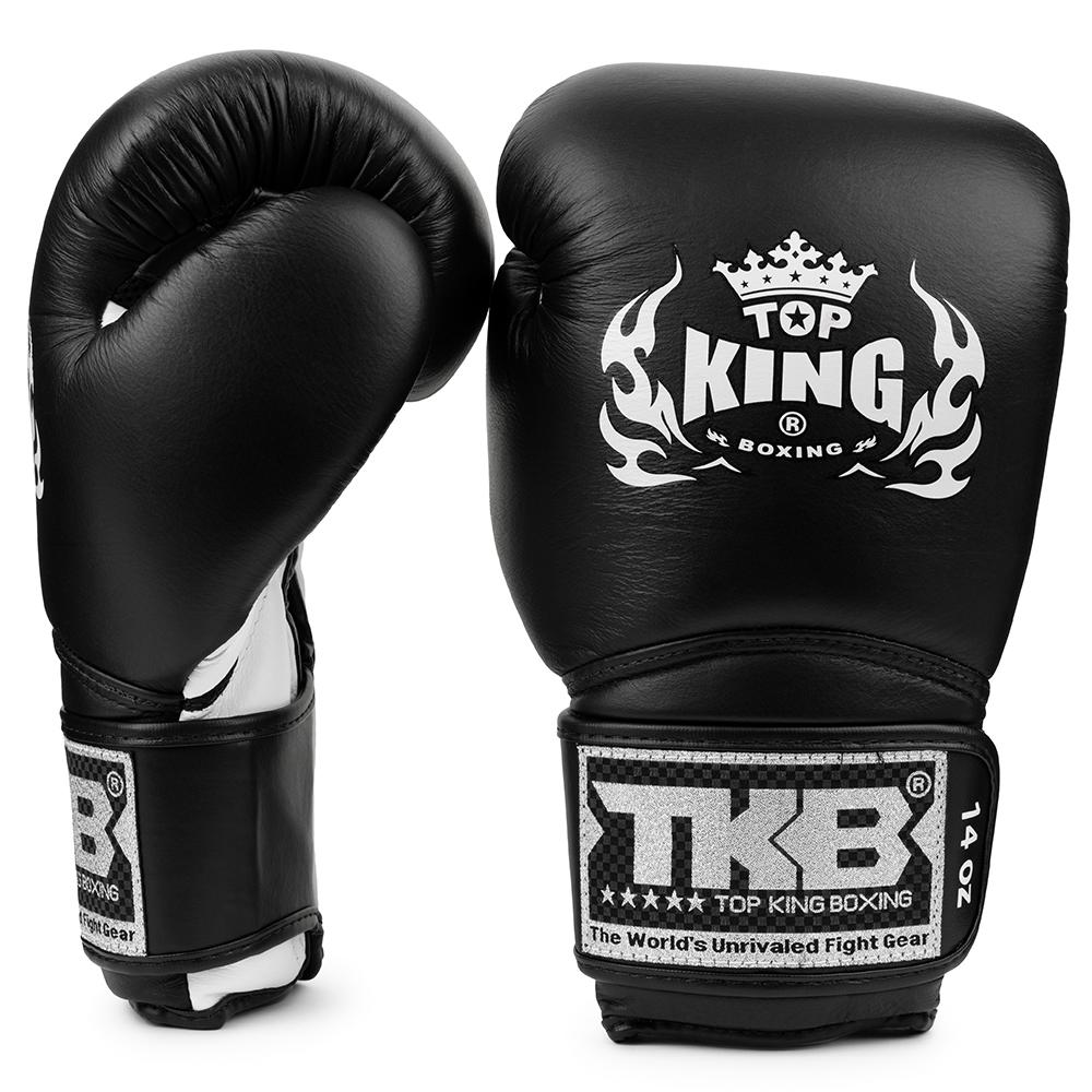 top king super air boxing gloves black white