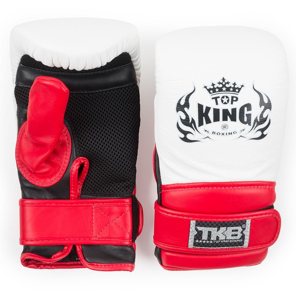 top king super air bag gloves white red black