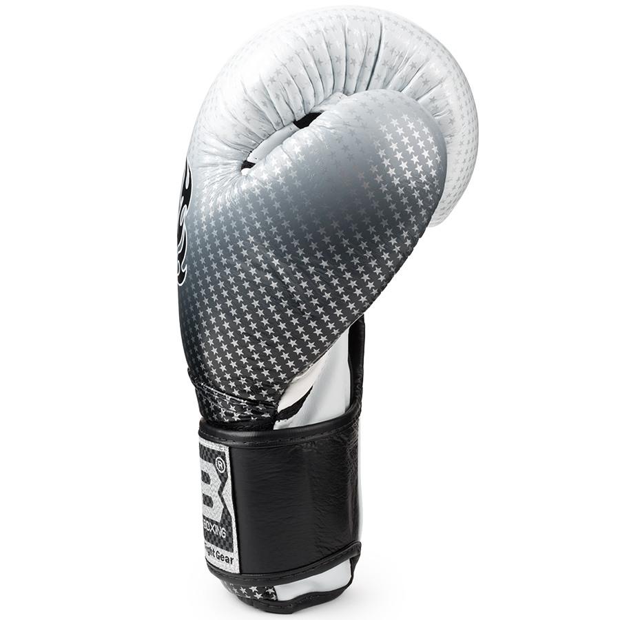 top king boxing gloves super star silver black