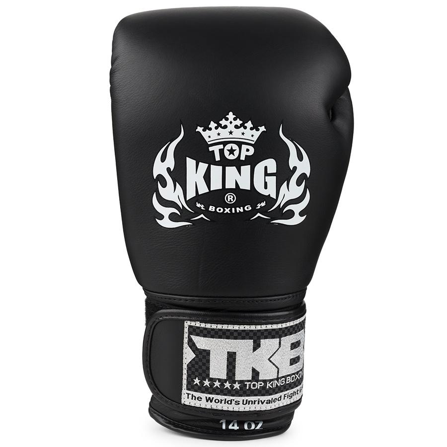 top king ultimate boxing gloves black