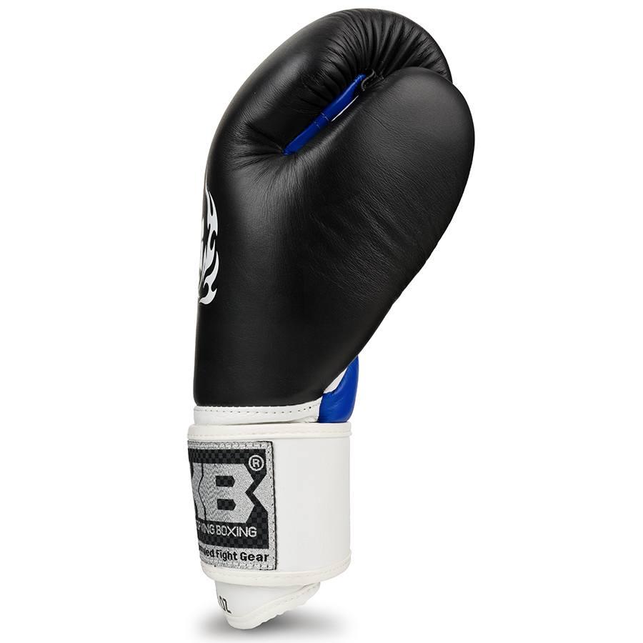 top king ultimate boxing gloves black white blue