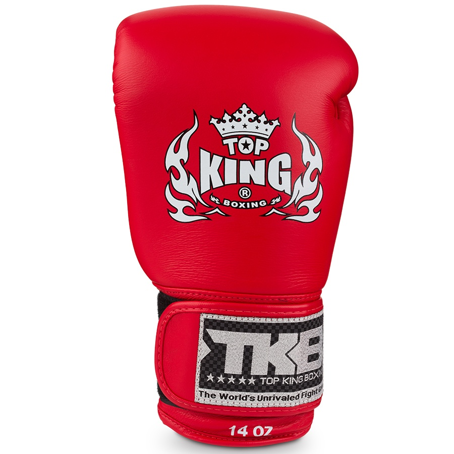 top king ultimate boxing gloves red