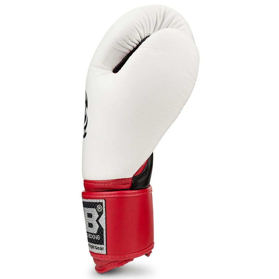 top king ultimate boxing gloves white red black