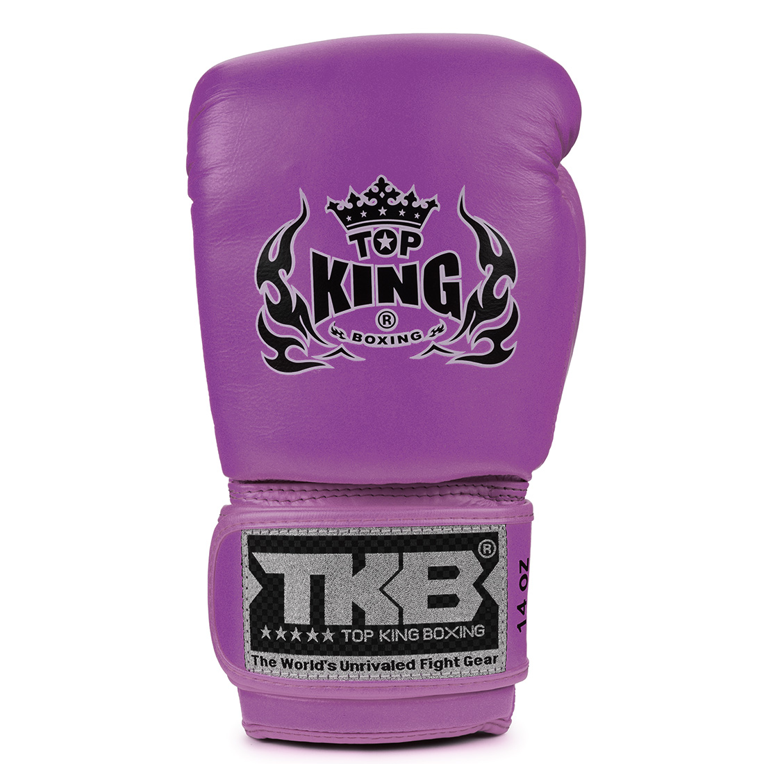 Top King Boxing Gloves Double Lock Purple